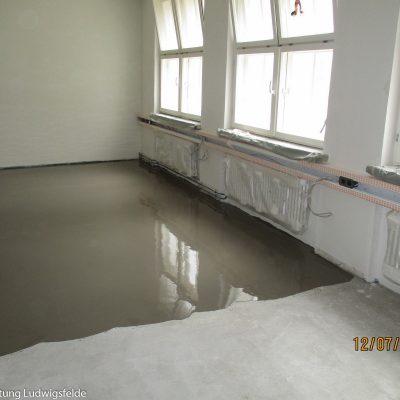 Vorbereitung für den Fußbodenbelag