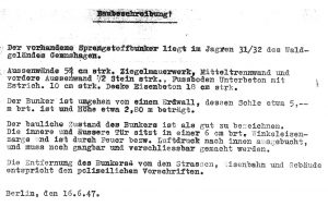 Zustand Bunker 1947
