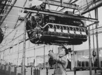 Flugmotoren-Montage, Werk Genshagen, ca. 1940