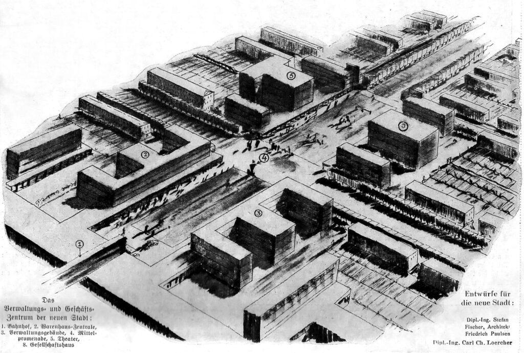Schaubild auf die Stadt in der umgearbeiteten Variante