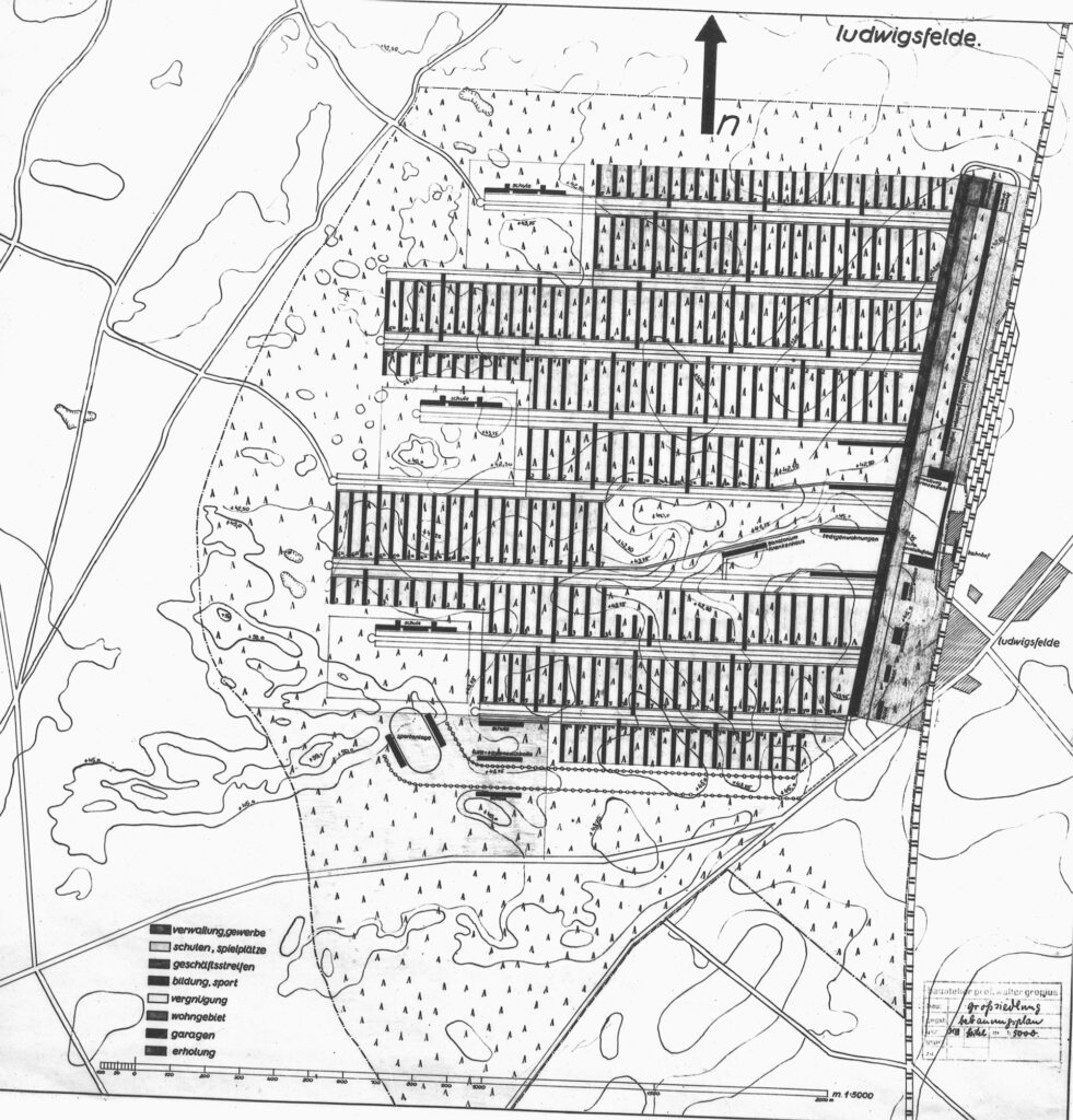 Bebauungsplan der Großsiedlung