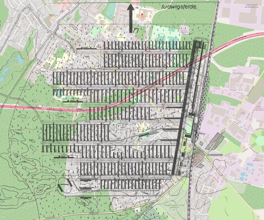 Großsiedlung Ludwigsfelde auf OSM